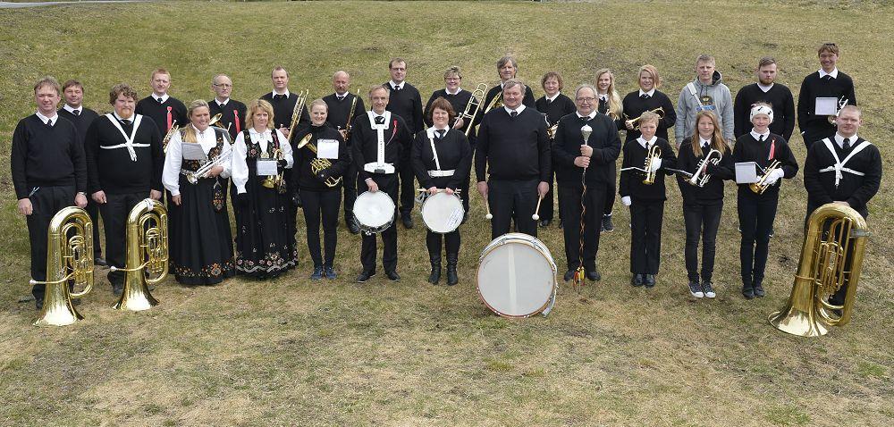 Hedalen musikkorps. Foto: Arne G. Perlestenbakken