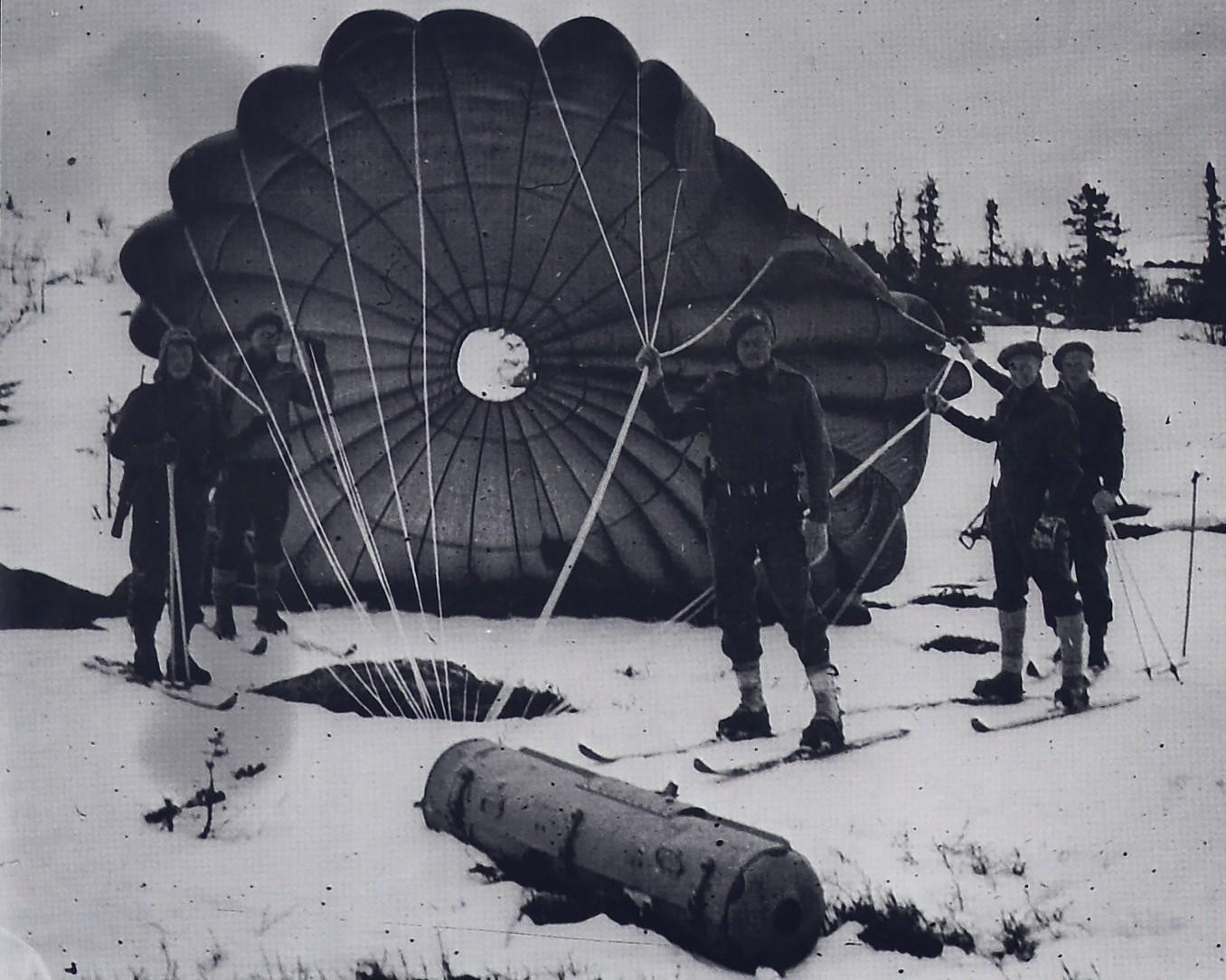 Fra flyslipp i Vassfaret 1945