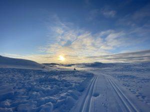 Flotte farger i fjellet ved juletider. Foto: Ingrid Saupstad