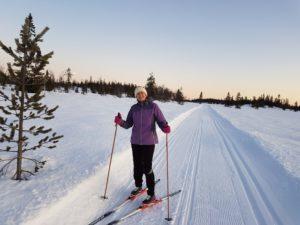 Skålevassåsen. Her kjører Hedalen løypelag ett spor. I det andre kan du skøyte. Foto: Arne Heimestøl