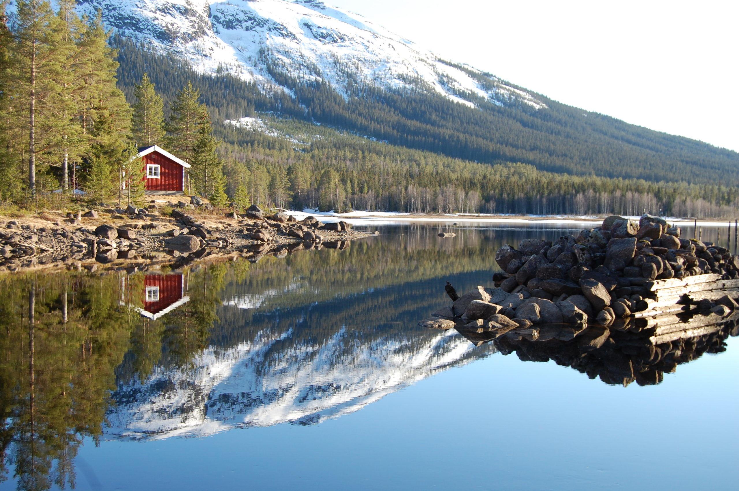 Aurdalsfjorden ved Aurdalsdammen. Foto: Tor Ola Skogstad