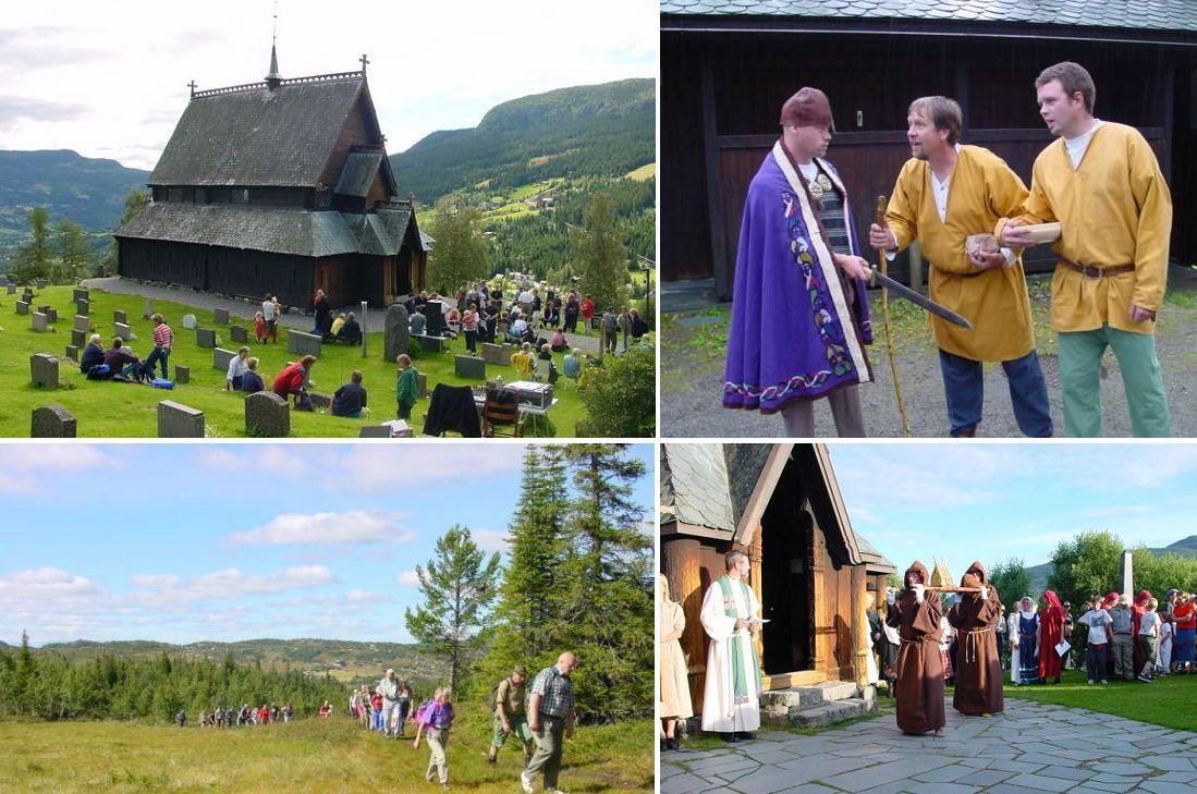 Bilder fra pilegrimsvandring fra Reinli til Hedalen i år 2000. Foto: Arne Heimestøl