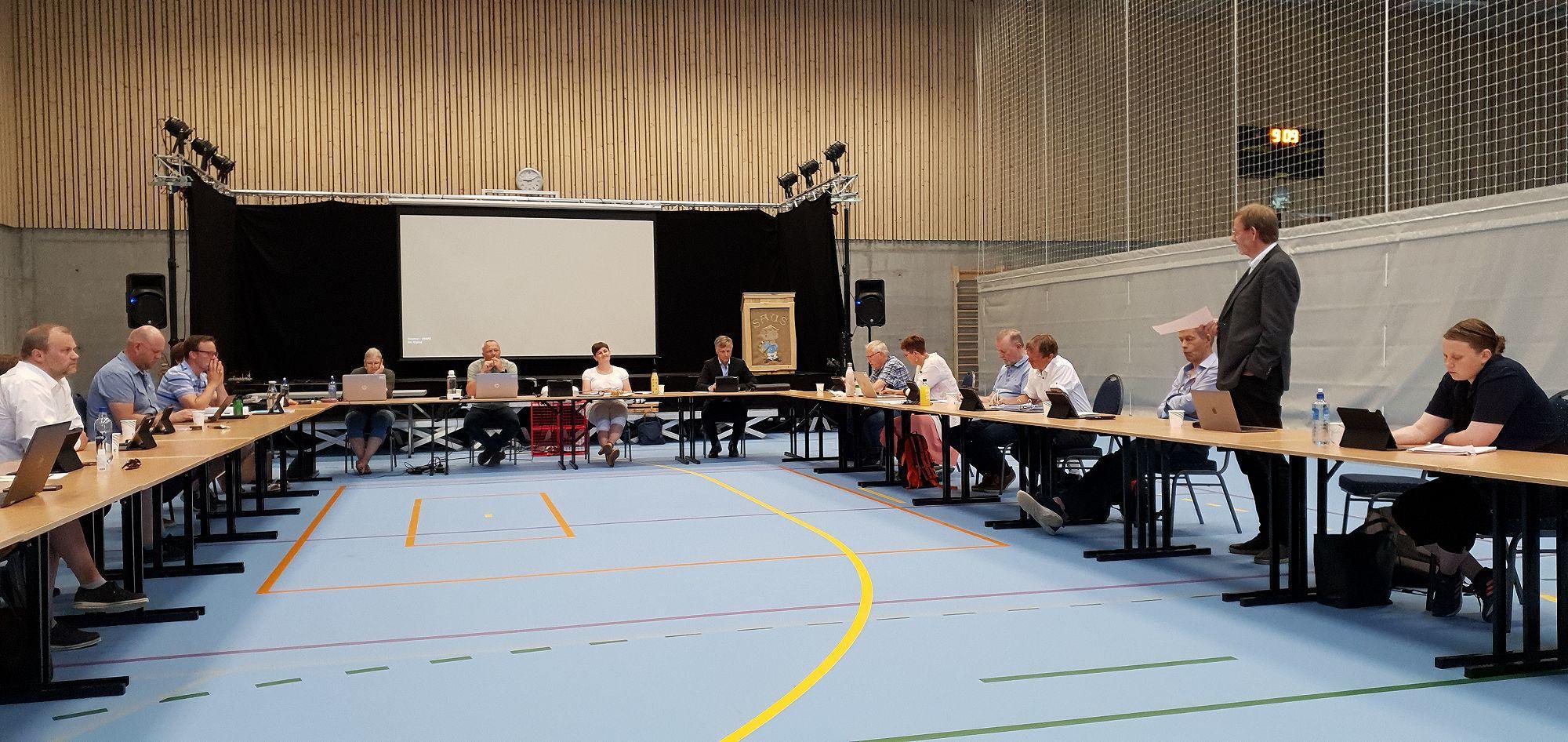 Kommunestyremøte i Sør-Aurdalshallen
