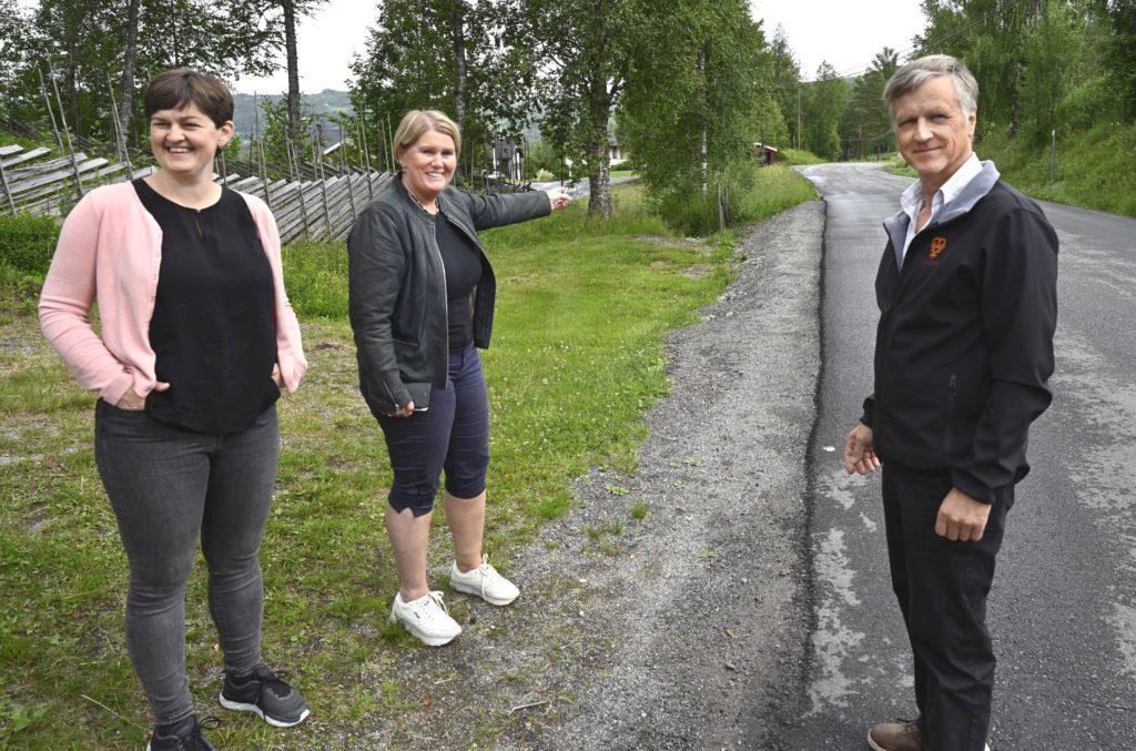 Kommunestyret i Sør-Aurdal har satt sykkel- og gangveg fra Bautahaugen til Hedalen barne- og ungdomsskole på andreplass i sin prioritering til handlingsplanen. Foto: Arne G. Perlestenbakken