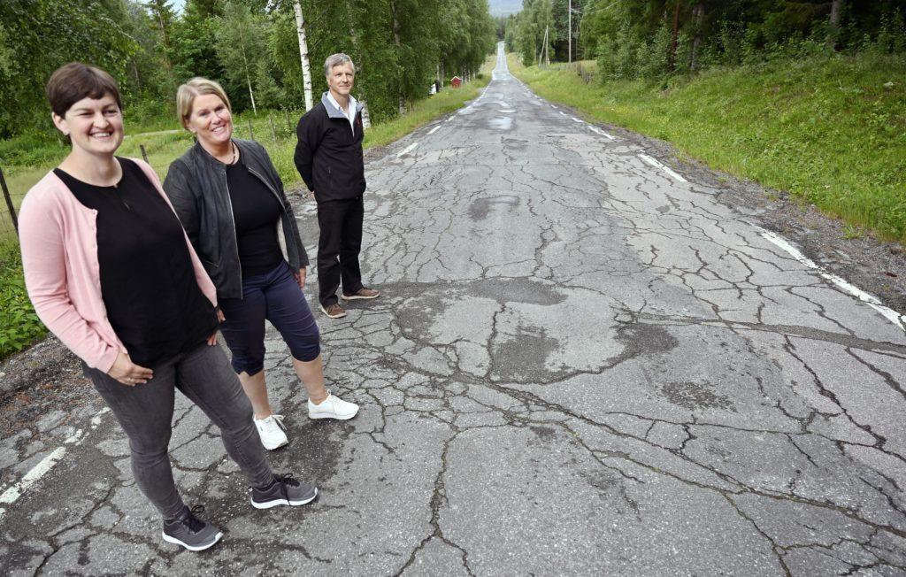 Vestbygdvegen i Hedalen har partier som roper på vedlikehold. Foto: Arne G. Perlestenbakken