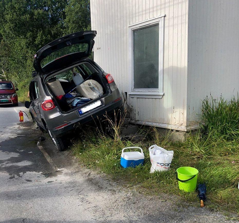 Trafikkulykke i Hedalen. Foto: Privat