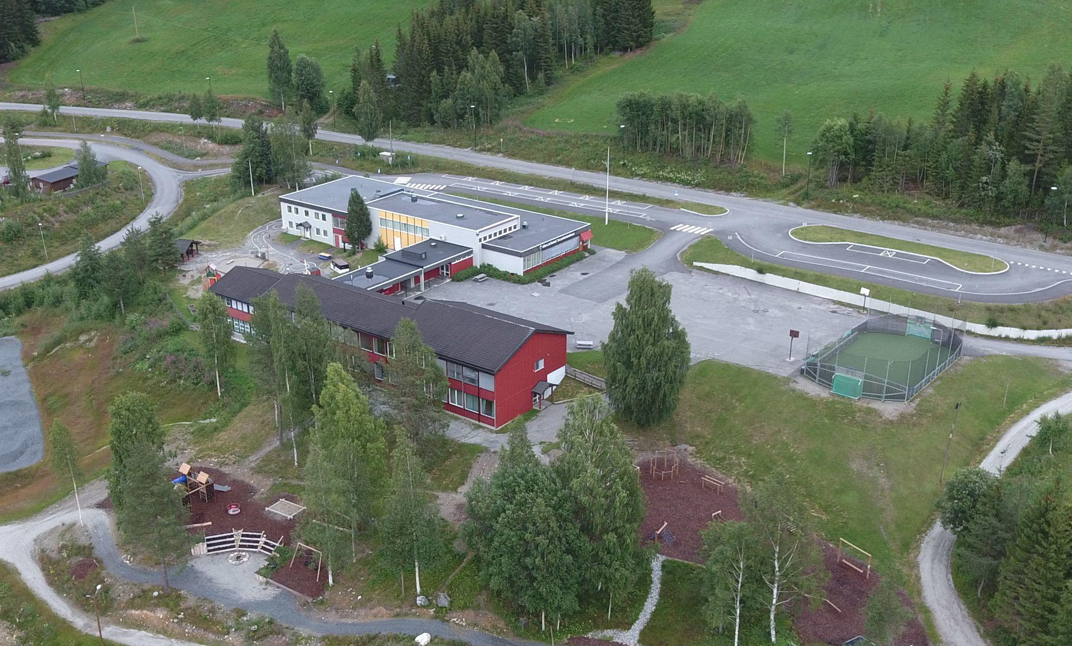 Hedalen barne- og ungdomsskole. Foto: Dagfinn Heimestøl
