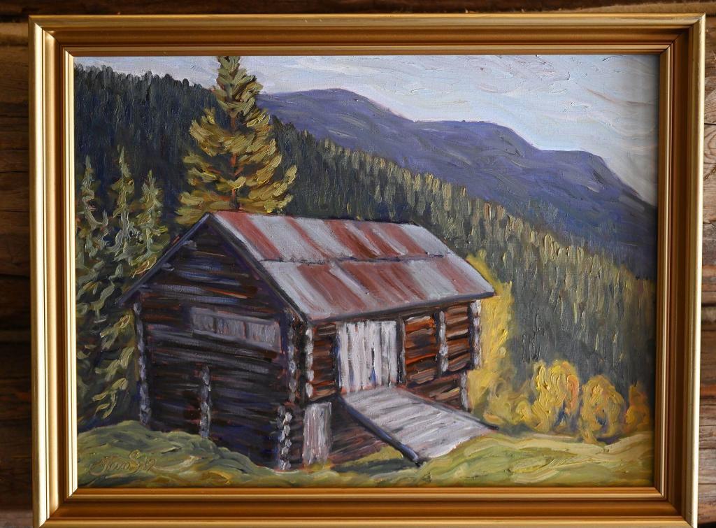 Maleriutstilling: Kunstmaler Tom Simonsen. Foto: Arne G. Perlestenbakken