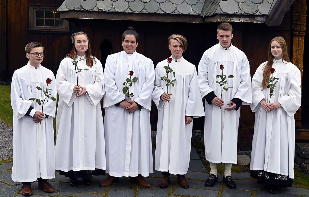 Fra venstre: Dennis, Lea Victoria, Dennis, Sander, Knut Ola og Tiril