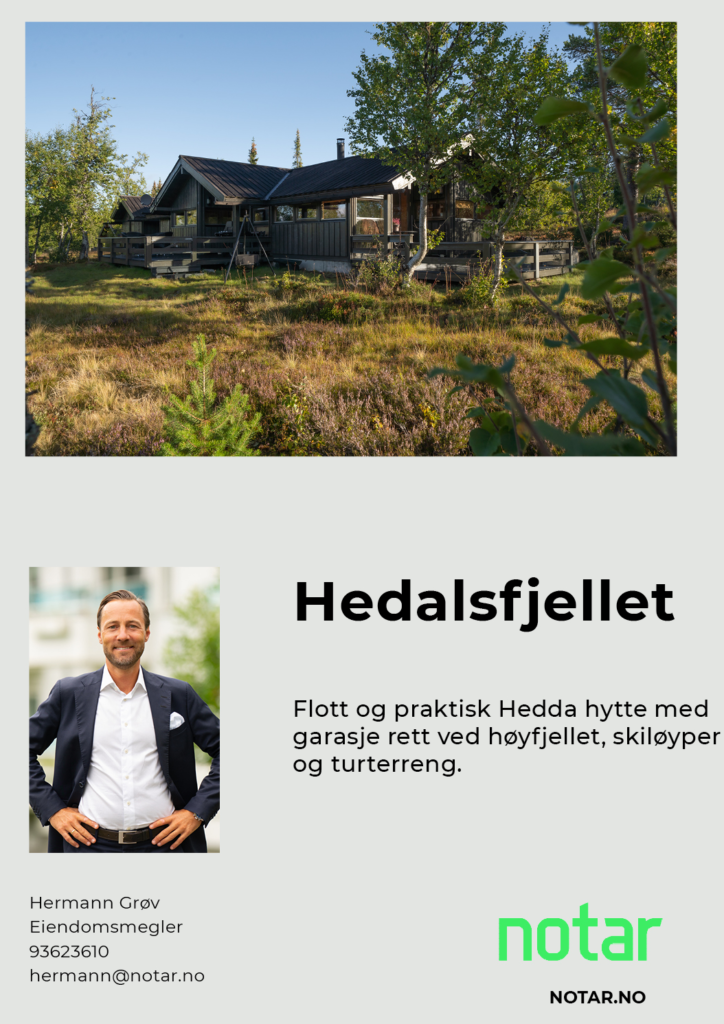 Flott og praktisk Hedda-hytte i Hedalsfjellet