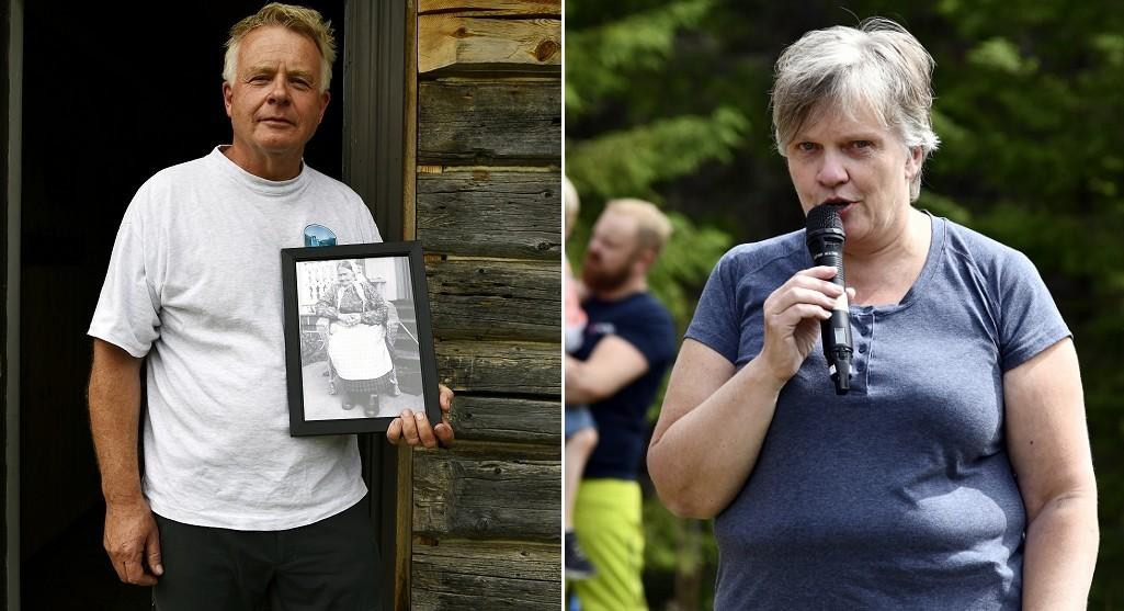 Bjarne Berg (med bilde av Berte Skrukkefyllhaugen) og Marit Stensrud . Foto: Arne G. Perlestenbakken