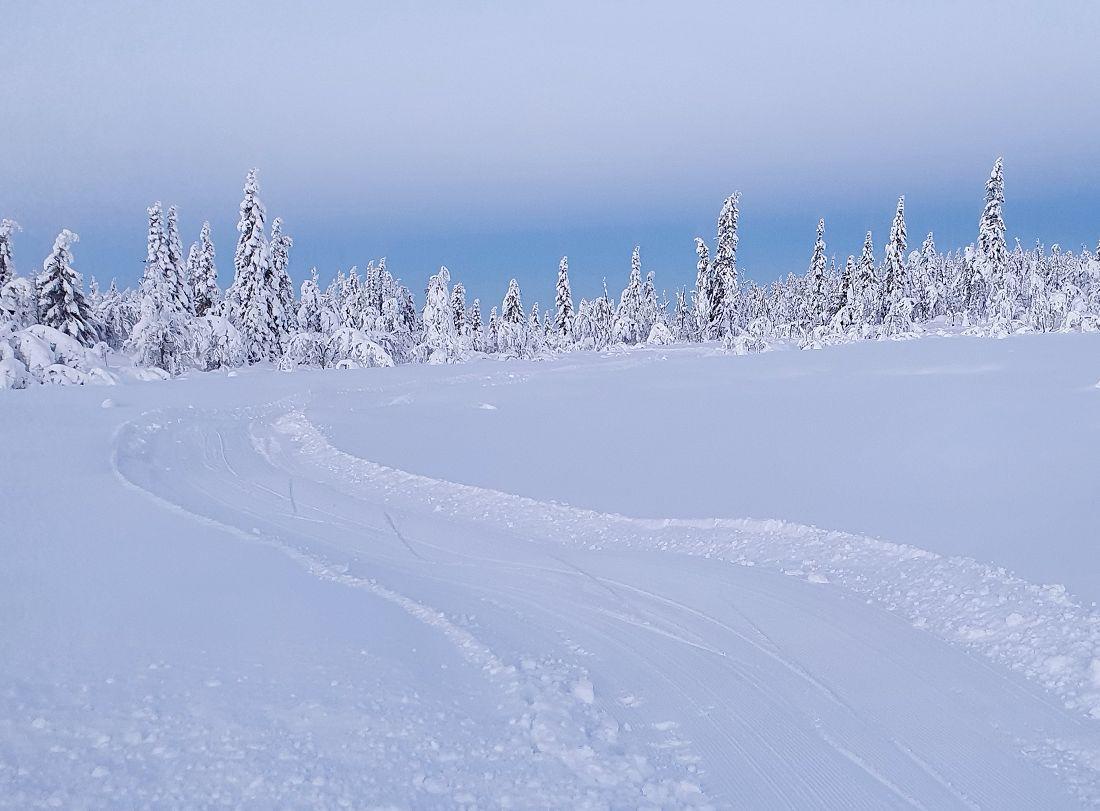 Vakkert vinterlandskap