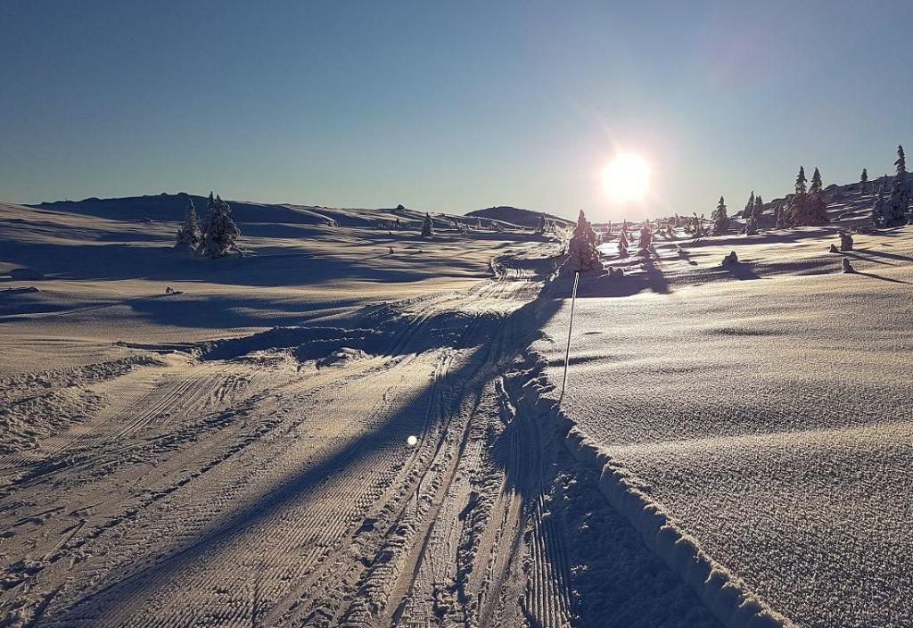Vakkert vinterlandskap. Foto: Arne Heimestøl