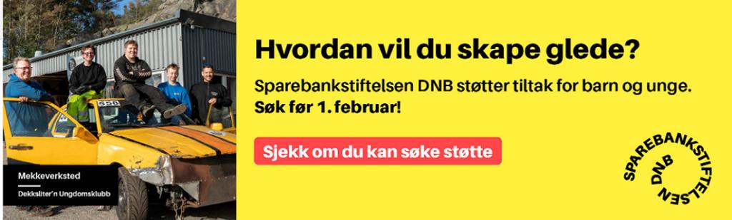 Søke støtte fra Sparebankstiftelsen DNB