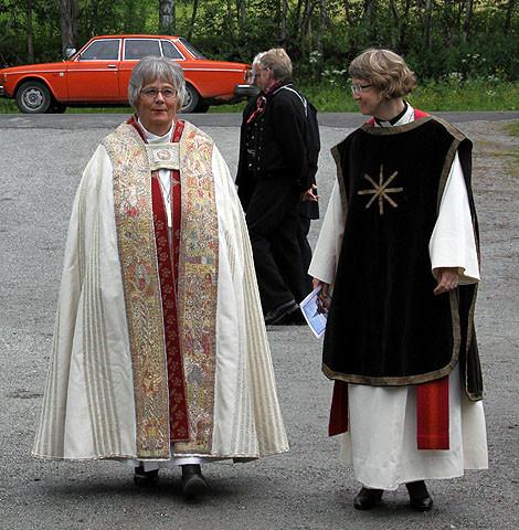 Biskop Solveig Fiske og prost Anne Hilde Øigarden