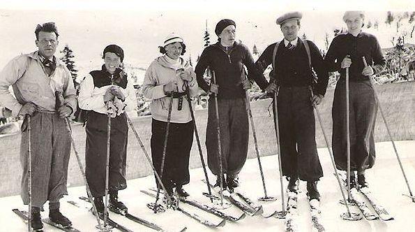 Skitur rundt 1930
