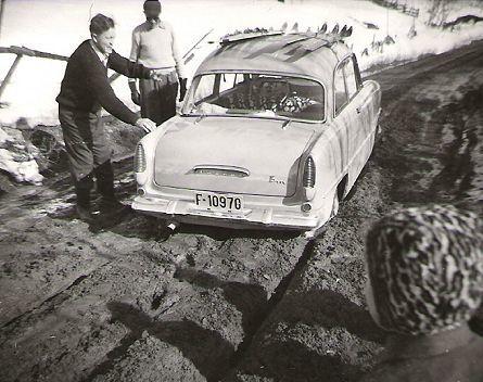 Vegstandard rundt 1950