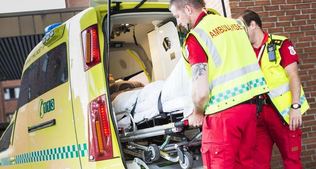 Ambulanse på oppdrag. Foto: Sykehuset Innlandet