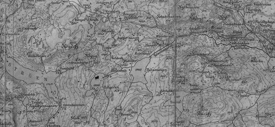 Gammelt kart over Hedalen