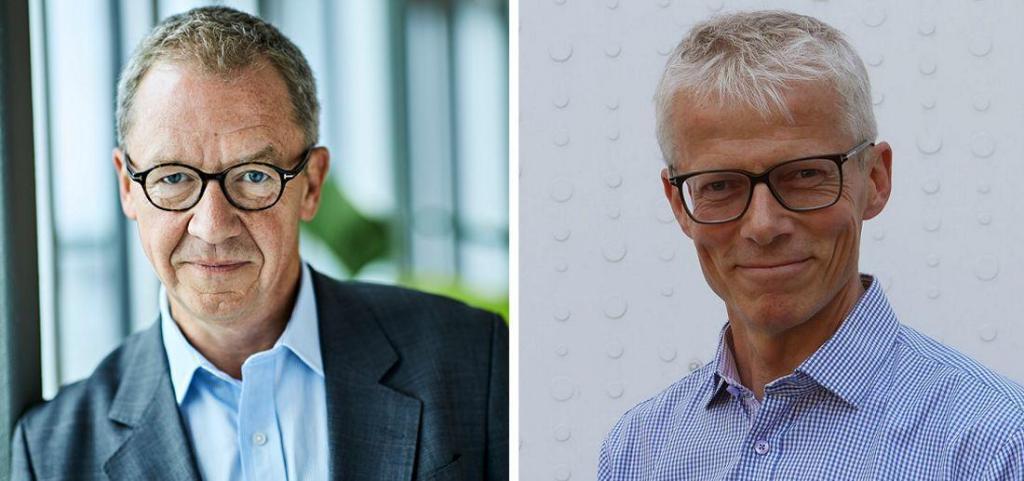 Idar Kreutzer, administrerende direktør i Finans Norge og Hans Christian Holte, arbeids- og velferdsdirektør