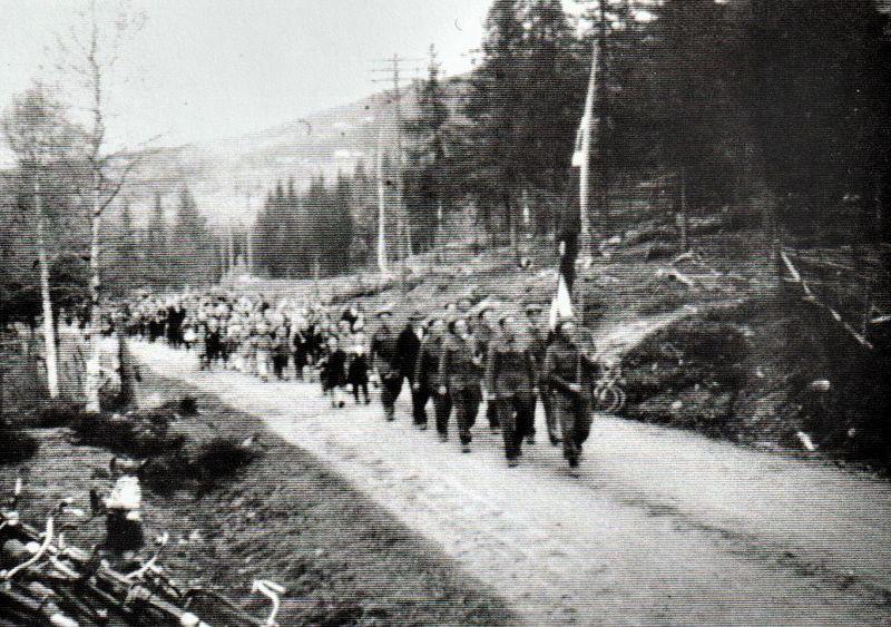 17. mai-toget kommer fram til Bautahaugen