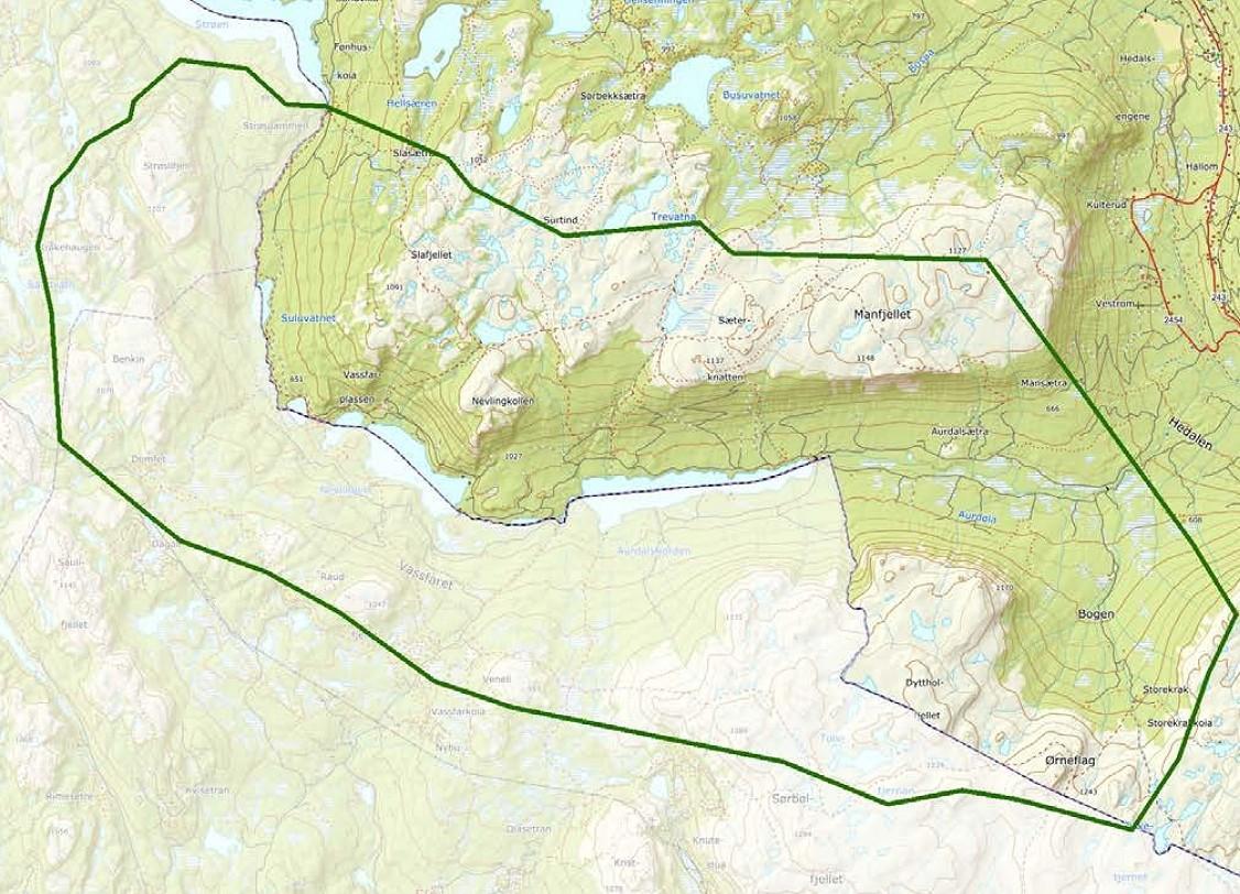 Kart over det aktuelle området