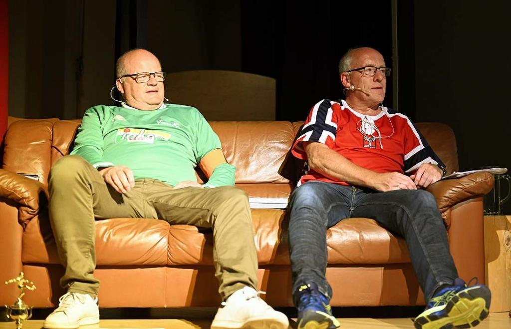 Ole Engebret Veimodet og Elling Olav Veimodet. Foto: Arne G. Perlestenbakken