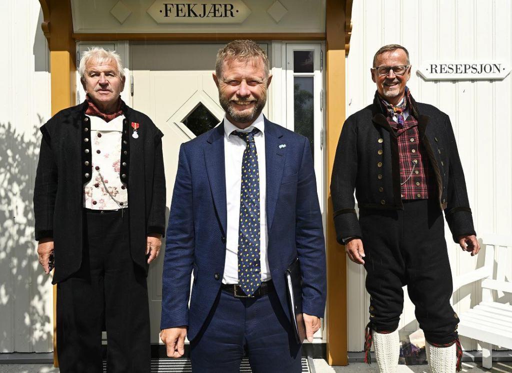 Elling Fekjær, Bent Høye og Ståle Borgersen. Foto: Arne G. Perlestenbakken
