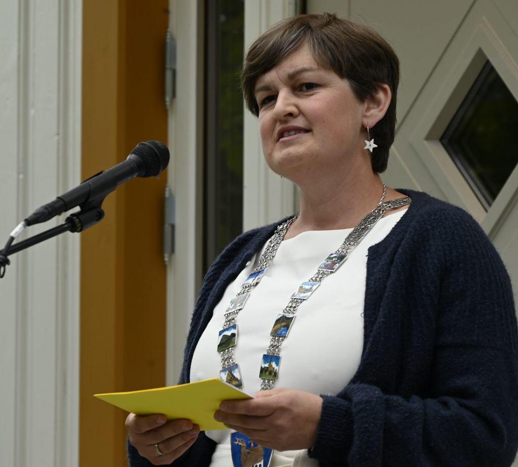 Marit Hougsrud, ordfører i Sør-Aurdal kommune. Foto: Arne G. Perlestenbakken
