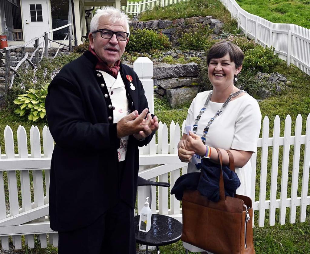 Elling og ordfører Marit Hougsrud