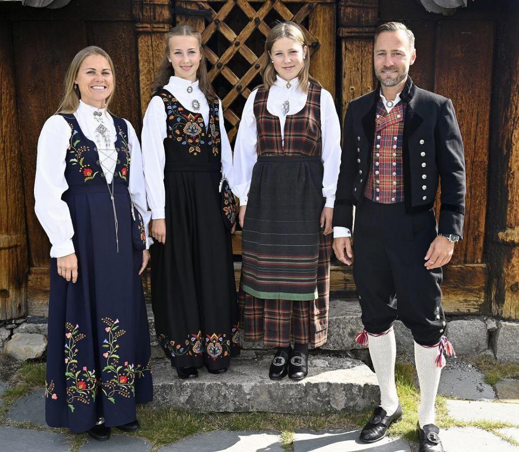 Victoria sammen med familien sin