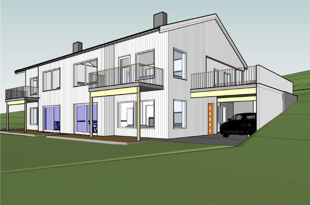 Bygger fire leiligheter i Brunbakklia